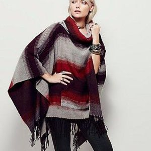 Free People Poncho - Browns and Tans